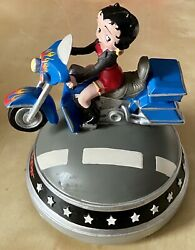 Vandor Betty Boop Liv 2 Ryd Moving Musical Motorcycle Figurine On The Road Again