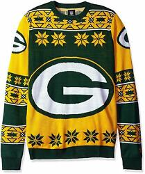 Forever Collectibles Nfl Unisex Green Bay Packers Big Logo Ugly Sweater Size S