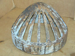 Antique Cast Iron 13 Beehive Drain Grate Cover Machine Age Steampunk Field Tile