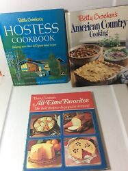 Betty Crocker's Lot Of 3 Cookbooks Hostess, All Time Favorites, Amer. Country