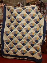 Farmhouse Country Quilt Top With Individual Pieces 75x61 Machine Made New