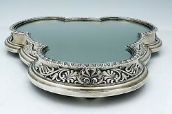Rare Elkington English Sterling Silver Mirrored Plateau C1860