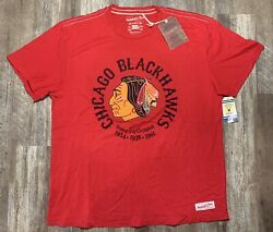 Chicago Blackhawks Mitchell And Ness Stanley Cup Champions Shirt Men's Size 3xl S1