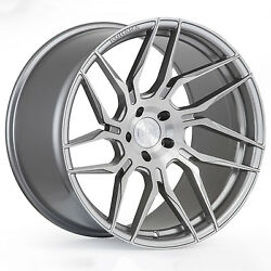 """20"""" Rohana Rfx7 Brushed Titanium Concave Wheels For Ford Mustang Gt 20x9 / 10"""