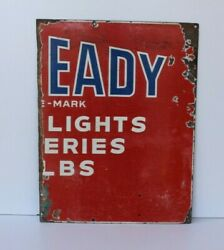 Vintage Old Collectible Part Eveready Battery Adv. Porcelain Enamel Sign Board