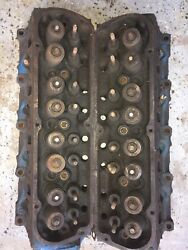 Ford Mustang 289 302 Cylinder Heads Cast Iron Pair Original Fomoco Free Shipping
