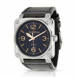 Bell And Ross Heritage Br03-92 Menand039s Watch In Stainless Steel
