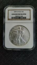 2005 1 American Silver Eagle Coin Uncirculated