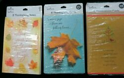 Thanksgiving Hallmark 8 Greeting Cards And Envelopes New Vintage Lot Of 3 Cc-7