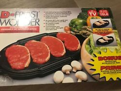 As Seen On Tv D-frost Wonder Defrost Food Miracle Tray