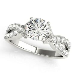 Round Cut 0.75 Ct Real Diamond Engagement Ring Solid 950 Platinum Rings 6 7 8/2