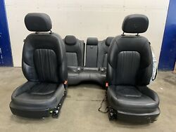 Maserati Ghibli Black Leather Seats Setup Front And Rear Used Note
