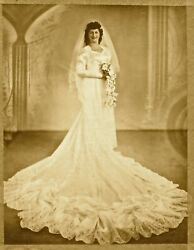 1940s Vintage Wedding Gown Hand-crafted By Brooklyn Dress Maker 1946