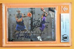 1999-00 Skybox Metal Vince Carter/grant Hill Rivalries R9. Bgs Authentic Auto