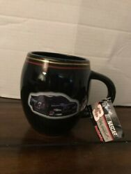 Nascar Dale Earnhardt 3 Gold Rimmed Black Coffee Hot Cocoa Collectible Mug Nwt