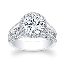 1.70 Ct Round Cut Real Diamond Engagement Ring Solid 950 Platinum Size 6 7 8/2