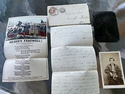 Orlando S Goff Civil War Letter With Stamped Envelope Tintype And Photo