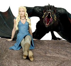 Game Of Thrones Daenerys And Dragon Resin-statue 35x45cm Dark Horse