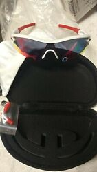 Oakley Sunglasses Radar Path Polished White Red Iridium w Soft amp; Hard Case NEW $229.99