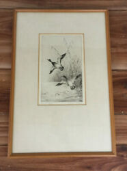 Henry Jackson Simpson, Leaving The Reeds, Original Drypoint Limited Edition