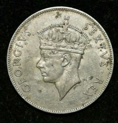 1949 - One Shilling East Africa George Vi - Silver - Xf Condition