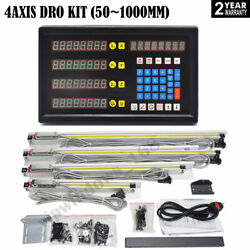 4axis Digital Readout Dro Display+4pc Ttl Linear Glass Scale Encoder 5andmicrom Milling