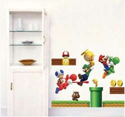 Super Mario Removable Wall Art Home Decor Decal Sticker Vinyl Room Kids