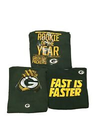 Lot Of 3 Nike Nfl Green Bay Packers Football Eddie Lacy Fast Gloves T-shirt Xxl