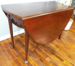 Antique Mahogany Queen Anne Dropleaf Table Large 48x 55 Circa 1740-60 Pad Foot