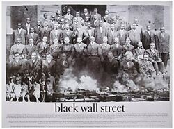 Black Wall Street Poster Photo African American Black History 24x18