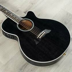 Takamine Tsp158c Sbl Acoustic Electric Guitar W/ Case See-through Black