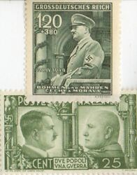 -ww2 -us/germa-paratrooper /italian Stamps + German Silver Eagle Coin