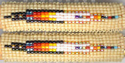 Navajo Beaded Hair Barrette Set 23 Feather Native American Jewelry