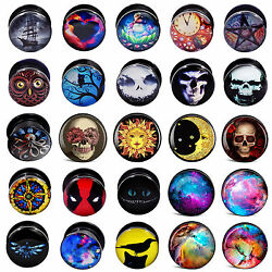 50pairs Wholesale Acrylic Ear Plugs Silicone Tunnels Mix Style Expander Gauges