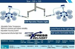 Twin Led Ot Light Surgical Examination Double Satellite Operating Ceiling Light