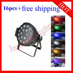 1818w Rgbwauv 6 In 1 Led Zoom Par Stage Party Weeding Light 16pcs Free Shipping
