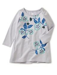 Tea Collection Toddler Girls Pomegranate Graphic Baby Dress Lilac Mist Size 3t