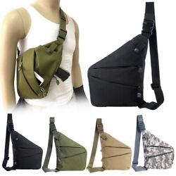 Concealed Tactical Storage Gun Holster Left Right Shoulder Anti-theft Chest Bag $12.34