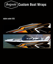 Premium Quality Boat Wrap. 6000mm X 700mm 2 Sides Style No. 125
