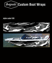 Premium Quality Boat Wrap. 6000mm X 700mm 2 Sides Style No. 126