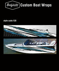 Premium Quality Boat Wrap. 6000mm X 700mm 2 Sides Style No. 128