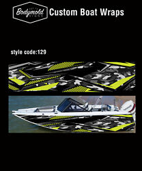 Premium Quality Boat Wrap. 6000mm X 700mm 2 Sides Style No. 129