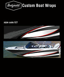 Premium Quality Boat Wrap. 6000mm X 700mm 2 Sides Style No. 127