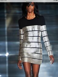 Tom Ford Silver Laser Chain Dress- Brand New With Tags- Rrp11300 Aud