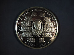 Bicentennial Of The Presidency 1989 12 Oz Proof Round Rare Free Ship And Ins