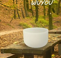 Wuyou 10 E Note Frosted Quartz Crystal Singing Bowl Clear Sound Meditation Bowl