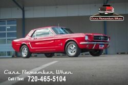 1965 Ford Mustang 5-Speed Tremec  TMI Seats  Great Driver 200 cubic inch I6 5-Speed manual Red