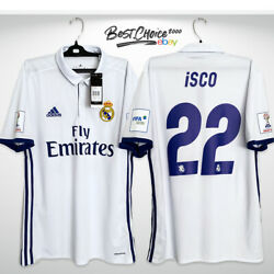 Real Madrid 2016 2017 Isco M Official Shirt Club World Cup Jersey Bnwt