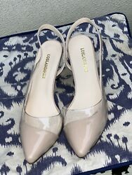 Loslandifen Nude High Heels size 5.5 Women's Fashion Shoes W Clear PVC Design $30.00