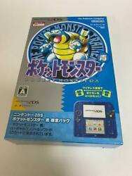Nintendo 2ds Pocket Monster Blue Limited Pack New Unused Opened Box Art Book